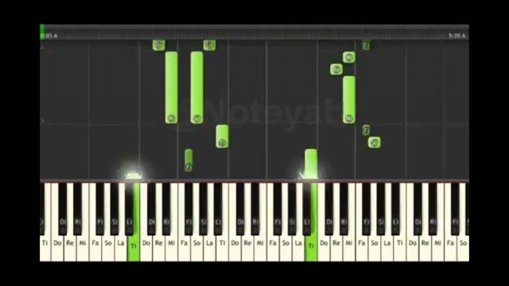 نت پیانو برای آهنگ امروز و فردا کردی