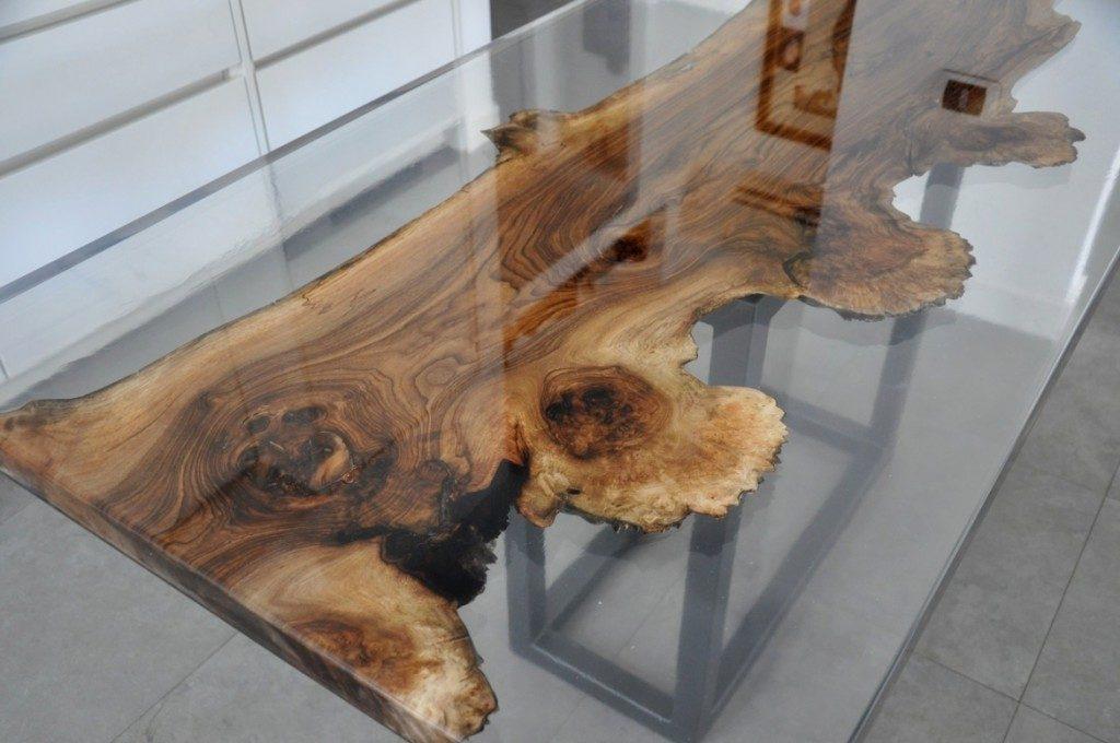 ساخت میز فوق العاده زیبا از چوب و زرین